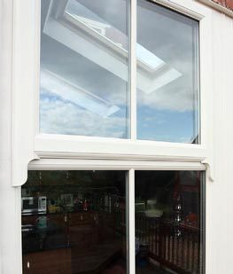 Double glazed sash horn windows