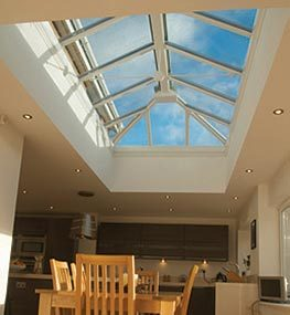 Roof lanterns let light pour in through the ceiling