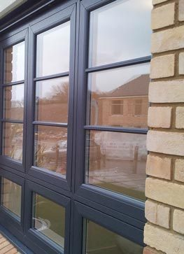 Double glazed flush sash windows